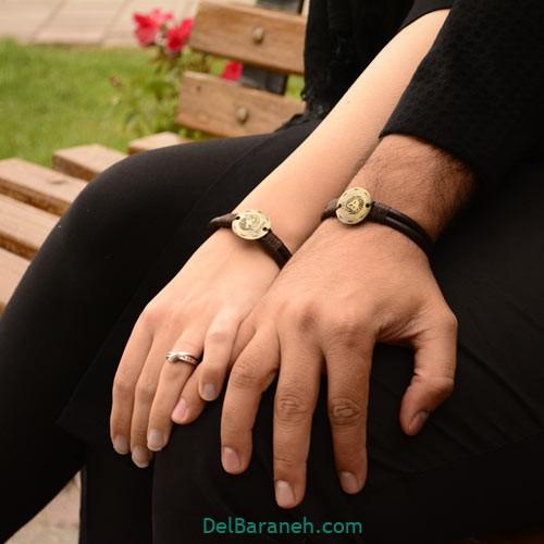 دستبند چرم دست ساز (۱)