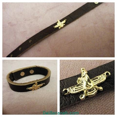 دستبند چرم دست ساز (۱۰)