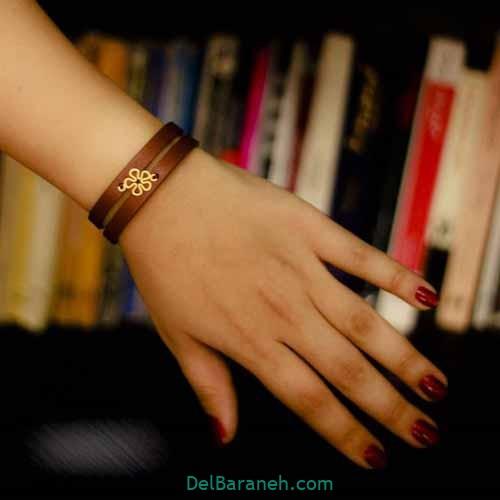 دستبند چرم دست ساز (۱۲)