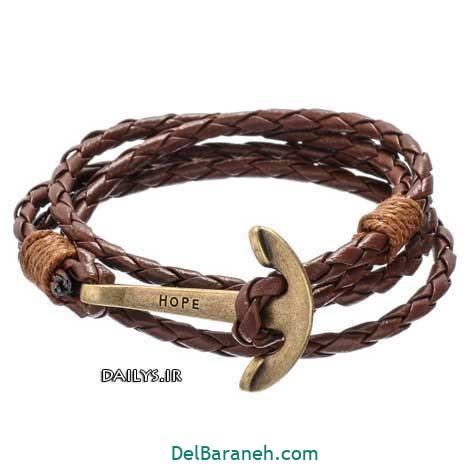 دستبند چرم دست ساز (۶)