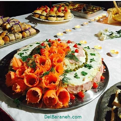 تزیین سالاد الویه مهمانی (۱۵)