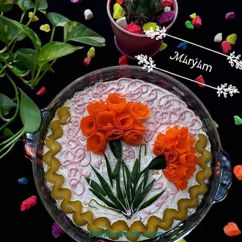 تزیین سالاد الویه مهمانی (۳۰)
