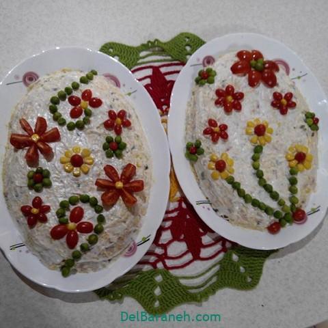 تزیین سالاد الویه مهمانی (۴۰)