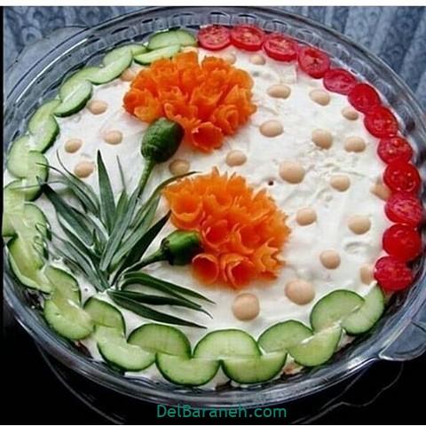 تزیین سالاد الویه مهمانی (۵)