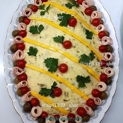 تزیین سالاد الویه مهمانی (۶)