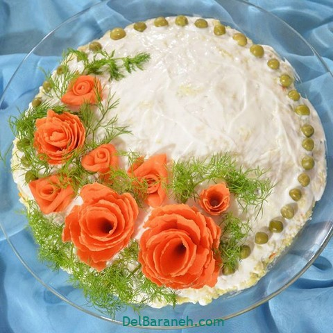 تزیین سالاد الویه مهمانی (۸)