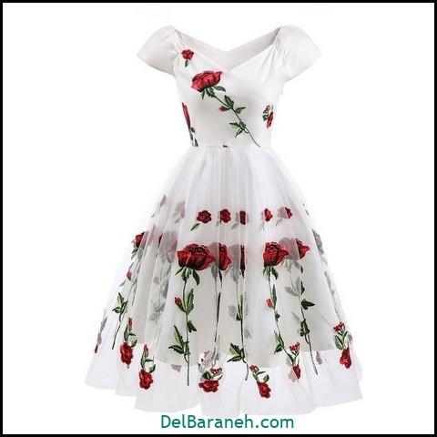 لباس مجلسی کوتاه | ۱۲۰ مدل لباس کوتاه شیک و اسپرت دخترانه