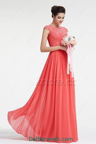 مدل لباس مجلسی قرمز جدید دخترانه