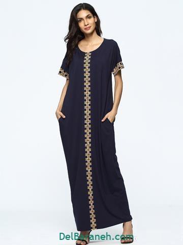 مدل لباس مجلسی بلند پوشیده خارجی