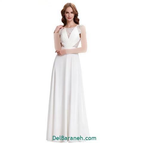 مدل لباس مجلسی بلند گیپور شیک و زیبا