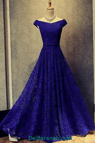 مدل لباس مجلسی بلند آبی