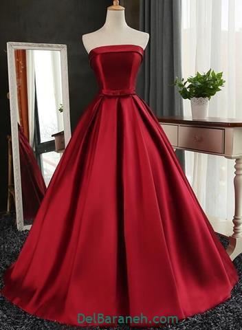 مدل لباس مجلسی بلند پرنسسی