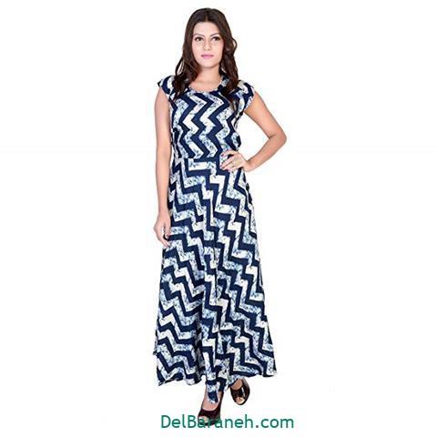 مدل لباس مجلسی بلند استین کلوش