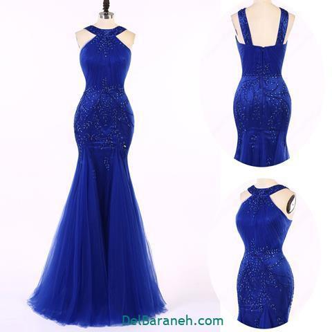 مدل لباس مجلسی گیپور بلند