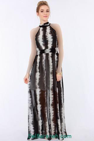 مدل لباس مجلسی حریر دخترانه بلند