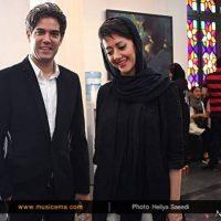 عکس امیر علی نبویان و نامزدش در کنسرت حجت اشرف زاده