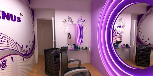 طراحی و دکوراسیون آرایشگاه زنانه و اجرای اتاق عروس جذاب و شیک