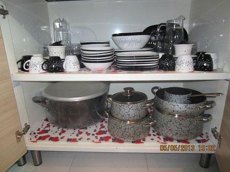 آشپزخانه عروس, چیدمان آشپزخانه عروس