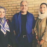 عکس گلاره عباسی و خواهرش بهاره با مهران مدیری