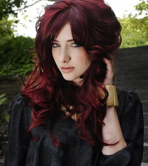 رنگ موی شرابی (3)