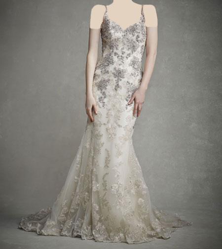لباس عروس دانتل ,لباس عروس پوف دار (1)
