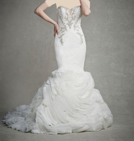 لباس عروس دانتل ,لباس عروس پوف دار (10)