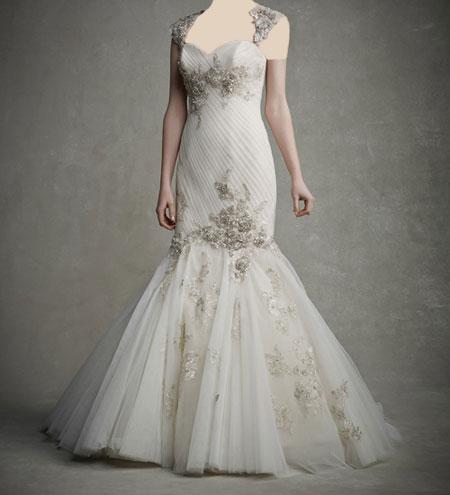 لباس عروس دانتل ,لباس عروس پوف دار (13)
