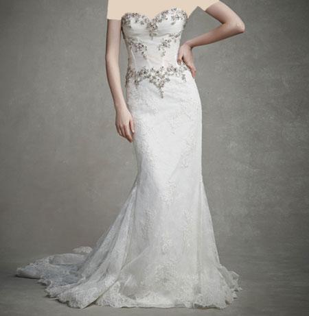 لباس عروس دانتل ,لباس عروس پوف دار (3)
