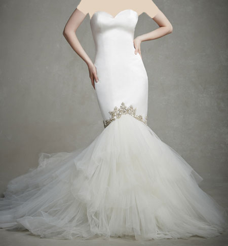 لباس عروس دانتل ,لباس عروس پوف دار (4)