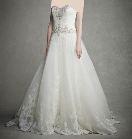 لباس عروس دانتل ,لباس عروس پوف دار (5)