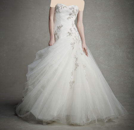 لباس عروس دانتل ,لباس عروس پوف دار (8)