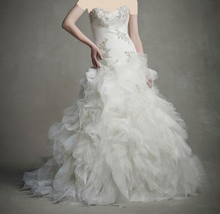 لباس عروس دانتل ,لباس عروس پوف دار (9)