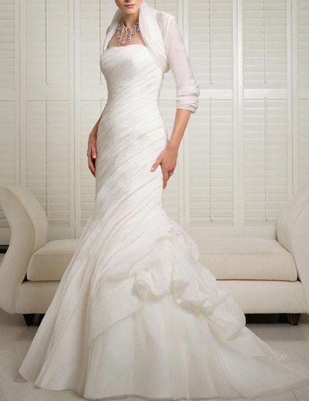 لباس عروس پوشیده,لباس تور شیک و پوشیده,لباس عروس آستین دار (1)