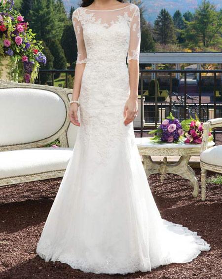 لباس عروس پوشیده,لباس تور شیک و پوشیده,لباس عروس آستین دار (9)