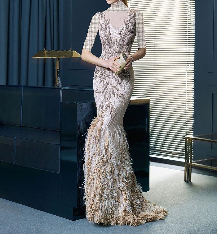 مدل لباس مجلسی دانتل,مدل لباس مجلسی بلند,مدل های جدید لباس مجلسی کارشده (12)