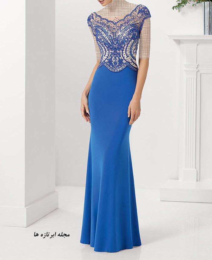 مدل لباس مجلسی دانتل,مدل لباس مجلسی بلند,مدل های جدید لباس مجلسی کارشده (4)