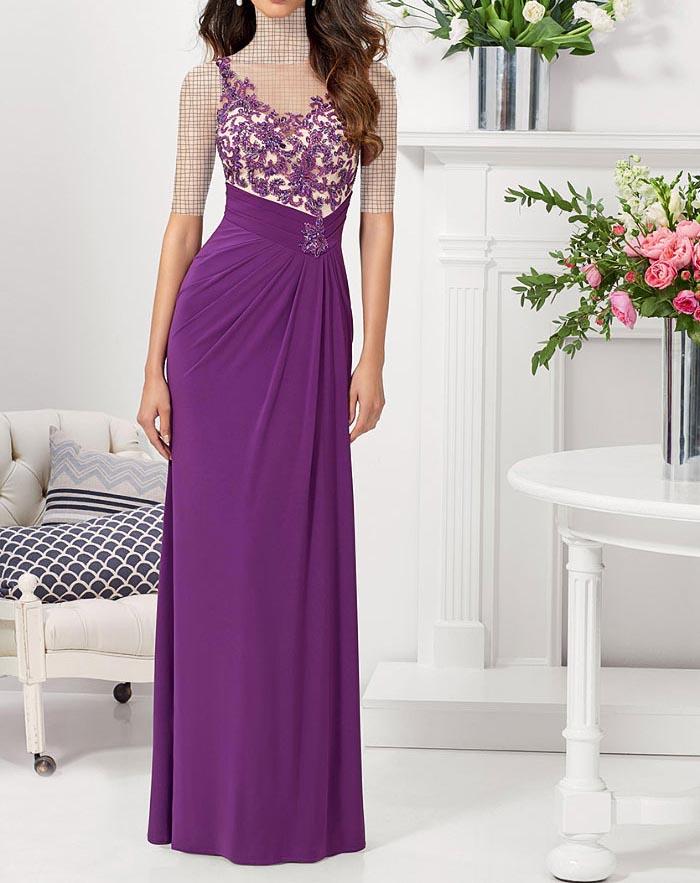مدل لباس مجلسی دانتل,مدل لباس مجلسی بلند,مدل های جدید لباس مجلسی کارشده (5)