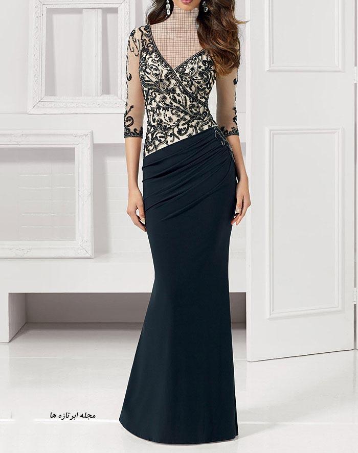 مدل لباس مجلسی دانتل,مدل لباس مجلسی بلند,مدل های جدید لباس مجلسی کارشده (9)
