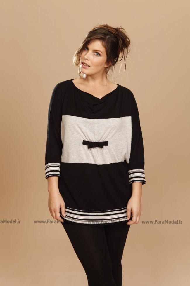 مدل تی شرت و بلوزهای سایز بزرگ زنانه