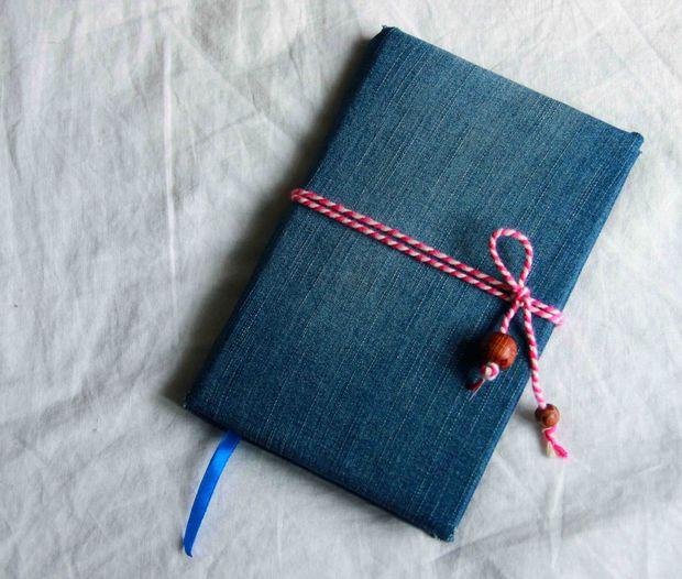 دفتر یادداشت با جلد پارچه ای درست کنید