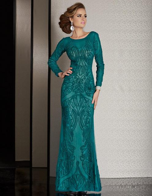 زیباترین مدلهای لباس مجلسی سبز ۲۰۱۶