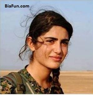 کشته شدن آنجلینا جولی کرد در جنگ با داعش+عکس