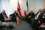 لباس برهنه نخست وزیر انگلیس در دیدار با روحانی+عکس