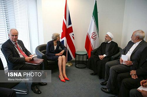 دیدار روحانی با نخست وزیر انگلیس