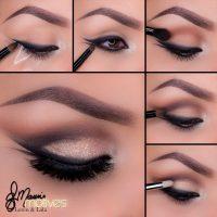 مدل آرایش چشم دخترانه آرایش صورت مناسب فصل پاییز ۹۵