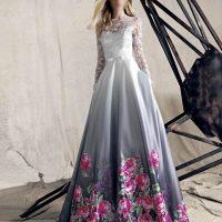 مدل لباس مجلسی بلند گیپور برند ترک کنزل kenzel