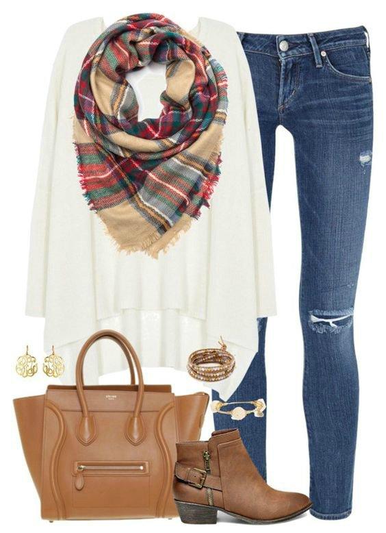 ست لباس با نیم بوت برای پاییز