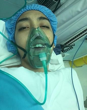 عکس کیمیا علیزاده در بیمارستان بعد از جراحی 25 مهر 95