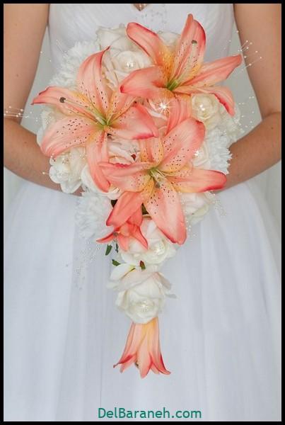 دسته گل عروس با گل لیلیوم