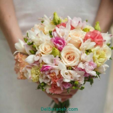 دسته گل عروس 96, دسته گل عروس, دسته گل عروس 2017,دسته گل عروس جدید,دسته گل عروس رز قرمز,